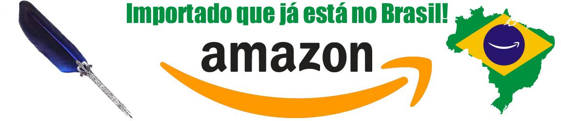 Amazon - Caneta Pena Azul